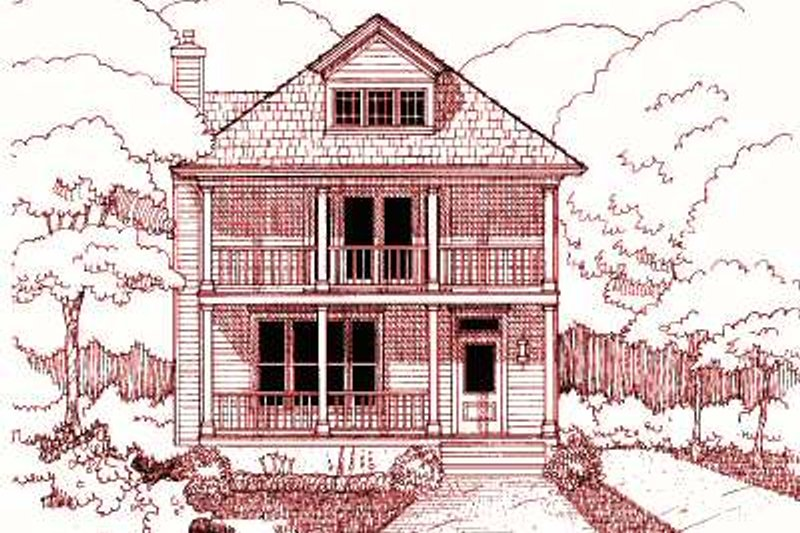 Home Plan - Southern Exterior - Front Elevation Plan #79-224