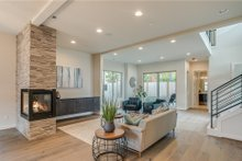 Architectural House Design - Contemporary Interior - Family Room Plan #1066-49