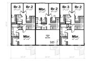 Traditional Style House Plan - 3 Beds 2.5 Baths 5420 Sq/Ft Plan #20-629 Floor Plan - Upper Floor