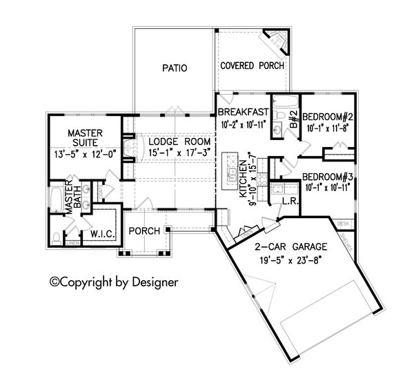Dream House Plan - Craftsman Floor Plan - Main Floor Plan #54-401
