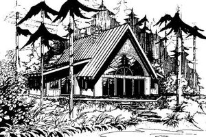 Cottage Exterior - Front Elevation Plan #60-113