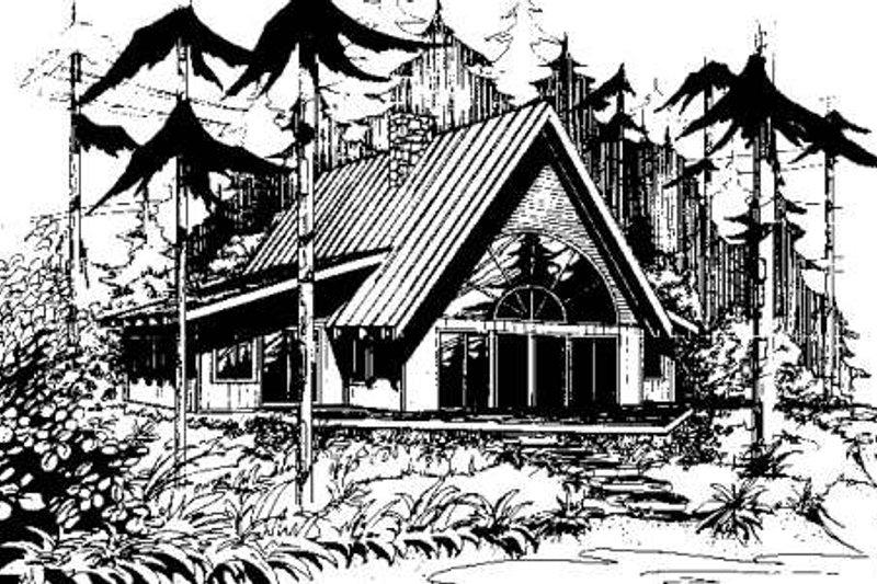 Cottage Exterior - Front Elevation Plan #60-113 - Houseplans.com