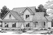 Traditional Style House Plan - 4 Beds 3 Baths 2553 Sq/Ft Plan #70-410 Exterior - Front Elevation