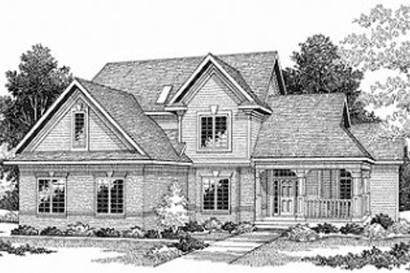 Traditional Exterior - Front Elevation Plan #70-410 - Houseplans.com