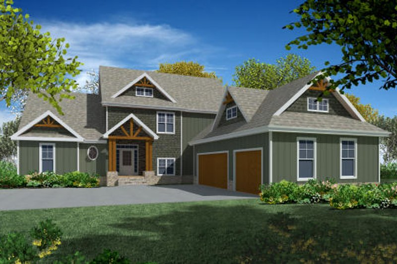 Craftsman Exterior - Other Elevation Plan #437-5 - Houseplans.com