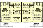 Ranch Style House Plan - 2 Beds 2 Baths 1800 Sq/Ft Plan #430-28 Floor Plan - Main Floor