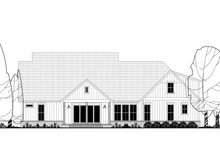 Farmhouse Exterior - Rear Elevation Plan #430-175