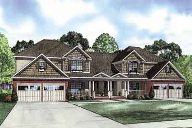 House Plan Design - Traditional Exterior - Front Elevation Plan #17-2157