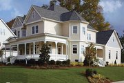 Victorian Style House Plan - 4 Beds 3.5 Baths 2772 Sq/Ft Plan #410-104 Exterior - Other Elevation