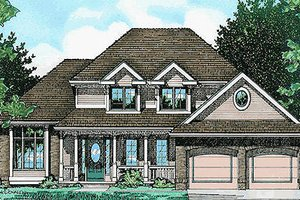 Exterior - Front Elevation Plan #20-2010