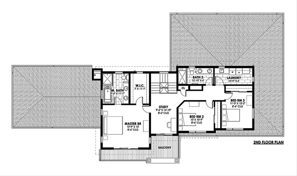 Contemporary Style House Plan 4 Beds 3 5 Baths 3334 Sq Ft Plan