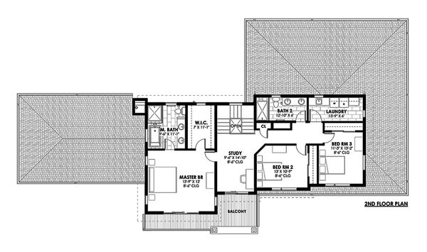 Contemporary Floor Plan - Upper Floor Plan Plan #1042-19
