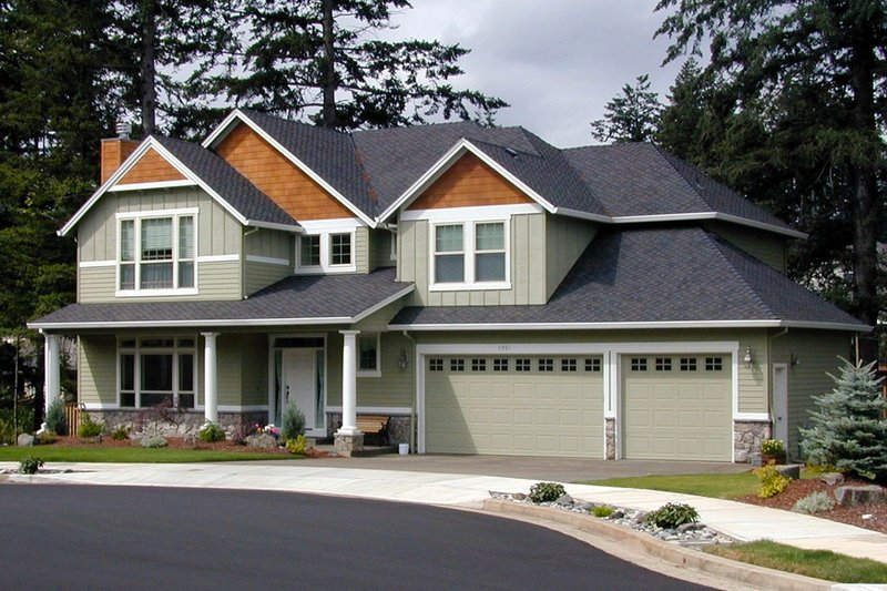 Dream House Plan - Craftsman Exterior - Front Elevation Plan #48-379