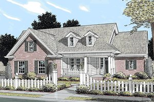 Architectural House Design - Farmhouse Exterior - Front Elevation Plan #20-119