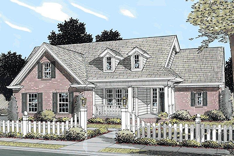 Farmhouse Exterior - Front Elevation Plan #20-119 - Houseplans.com