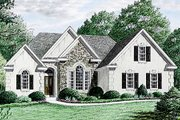 Traditional Style House Plan - 3 Beds 2 Baths 1670 Sq/Ft Plan #34-106 Exterior - Front Elevation