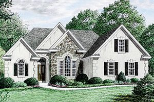 House Plan Design - Traditional Exterior - Front Elevation Plan #34-106