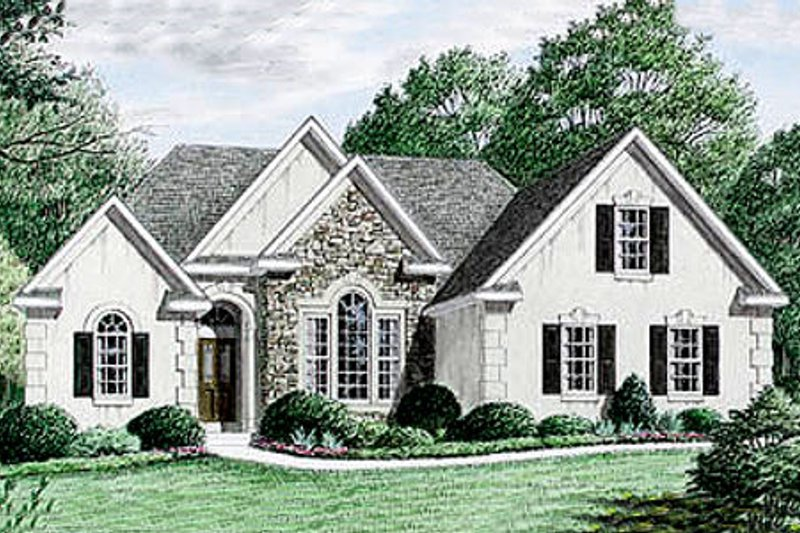 Traditional Style House Plan - 3 Beds 2 Baths 1670 Sq/Ft Plan #34-106