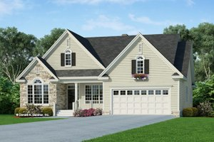 Signature Country Exterior   Front Elevation Plan #929 658