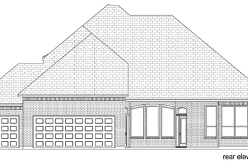 Traditional Exterior - Rear Elevation Plan #84-523 - Houseplans.com