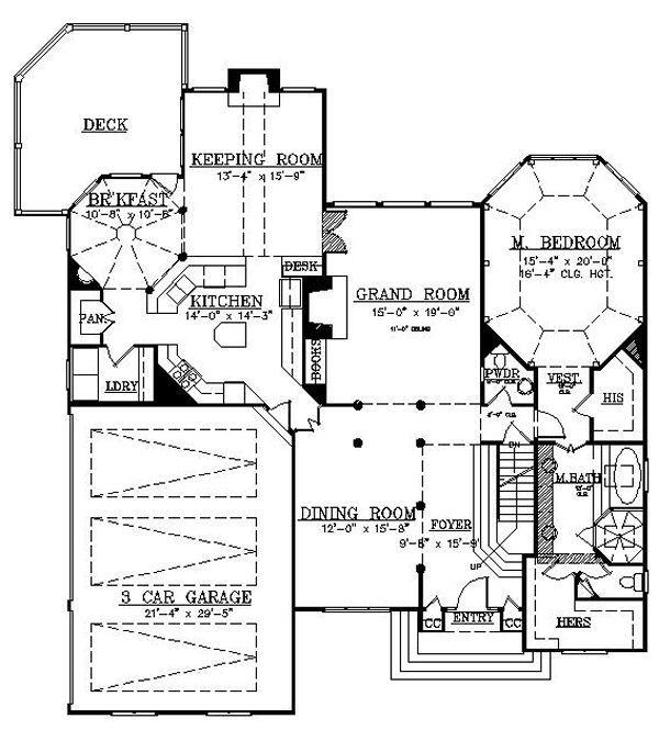 European Floor Plan - Main Floor Plan Plan #119-307