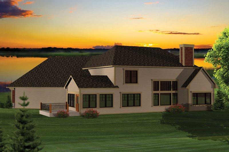 Craftsman Exterior - Rear Elevation Plan #70-1059 - Houseplans.com
