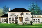 Colonial Style House Plan - 4 Beds 2.5 Baths 3845 Sq/Ft Plan #25-4172 Exterior - Front Elevation