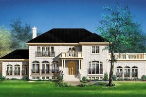 Colonial Exterior - Front Elevation Plan #25-4172