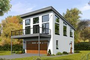 Contemporary Style House Plan - 1 Beds 2 Baths 881 Sq/Ft Plan #932-69 Exterior - Front Elevation