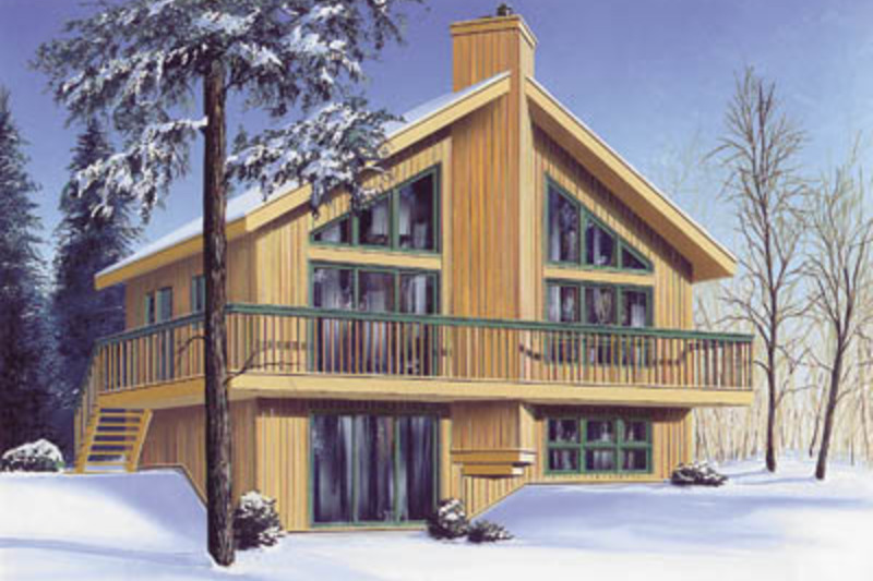 Contemporary Exterior - Front Elevation Plan #23-2040 - Houseplans.com