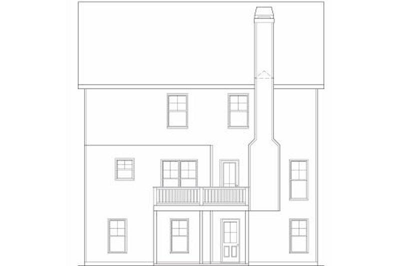 Traditional Exterior - Rear Elevation Plan #419-184 - Houseplans.com