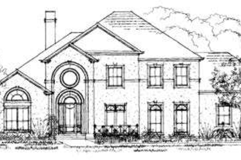 European Exterior - Front Elevation Plan #325-108