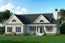 Country Exterior - Front Elevation Plan #929-398