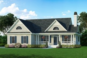 Home Plan - Country Exterior - Front Elevation Plan #929-398