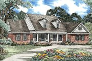 Ranch Style House Plan - 5 Beds 5 Baths 3419 Sq/Ft Plan #17-2050 Exterior - Front Elevation