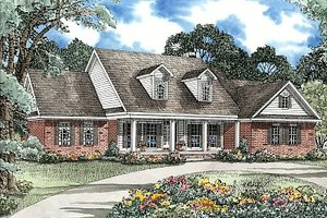 Ranch Exterior - Front Elevation Plan #17-2050