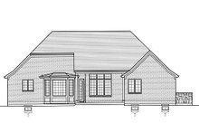 European Exterior - Rear Elevation Plan #46-483