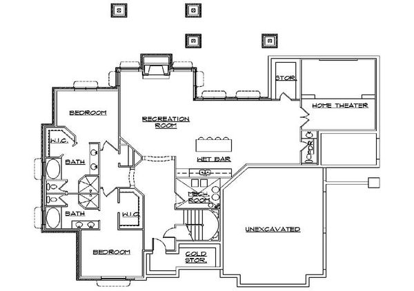 Country Floor Plan - Lower Floor Plan Plan #5-311