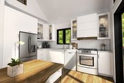 Modern Style House Plan - 3 Beds 2 Baths 1086 Sq/Ft Plan #23-2023 Interior - Kitchen