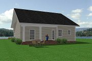 Southern Style House Plan - 2 Beds 1 Baths 1097 Sq/Ft Plan #44-148 Exterior - Rear Elevation