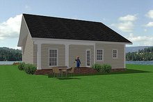 Southern Exterior - Rear Elevation Plan #44-148
