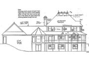 European Style House Plan - 5 Beds 3.5 Baths 2744 Sq/Ft Plan #312-439 Exterior - Rear Elevation