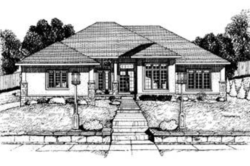 Exterior - Front Elevation Plan #20-630