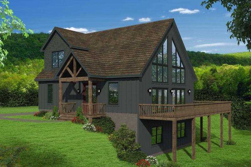 House Plan Design - Cabin Exterior - Front Elevation Plan #932-250