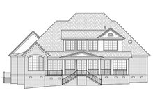 Dream House Plan - Traditional Exterior - Rear Elevation Plan #1054-24