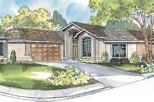 Ranch Exterior - Front Elevation Plan #124-501