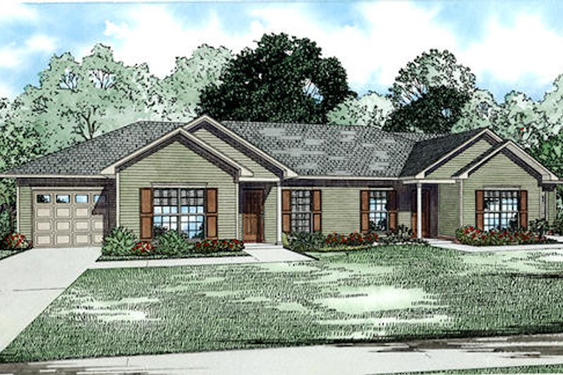 Traditional Style House Plan - 2 Beds 1 Baths 2024 Sq/Ft Plan #17-2433 Exterior - Front Elevation