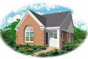 Southern Style House Plan - 2 Beds 2 Baths 1057 Sq/Ft Plan #81-120 Exterior - Front Elevation