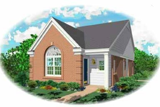 Southern Exterior - Front Elevation Plan #81-120