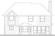 Traditional Exterior - Rear Elevation Plan #80-147
